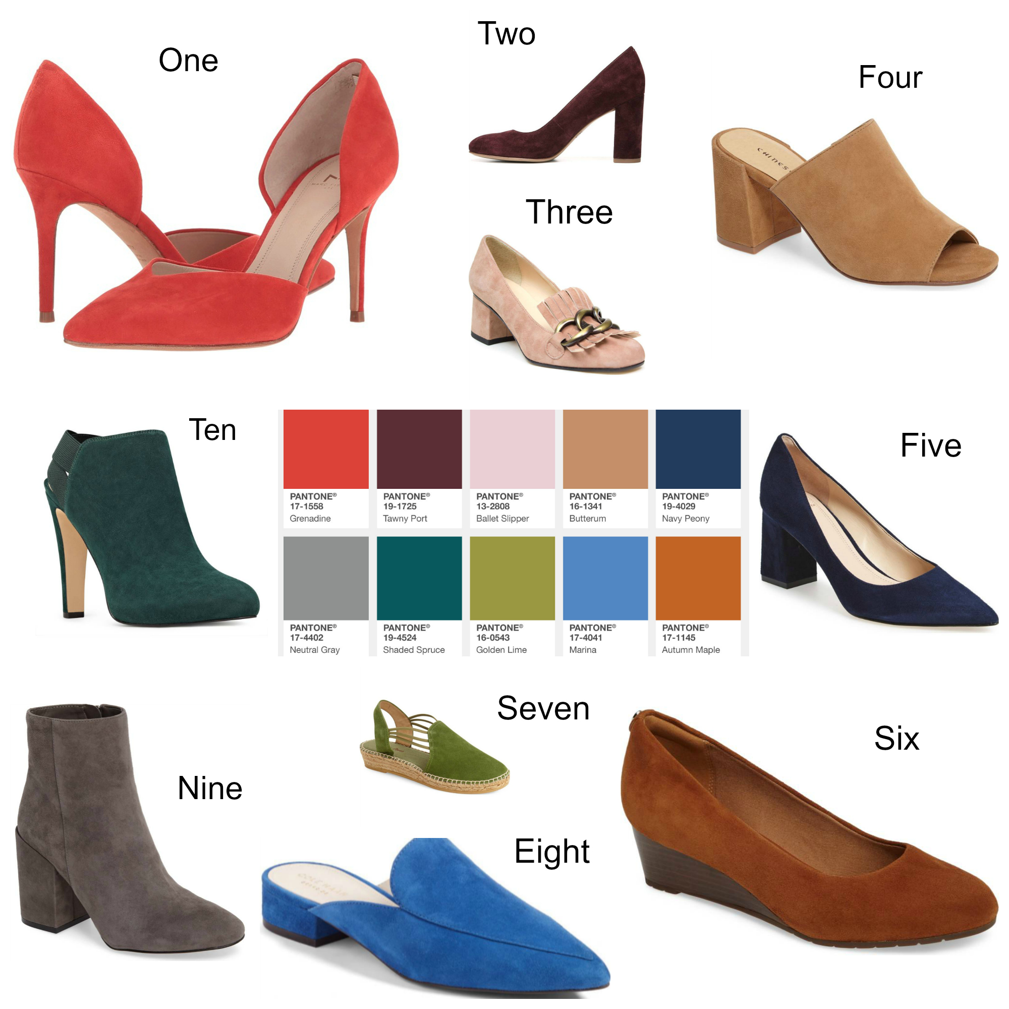 shoes in pantone s top ten colors for fall 2017 haute business